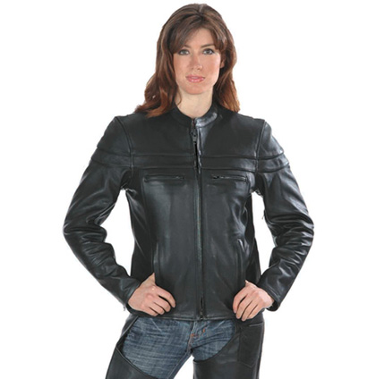 Women's Premium Light Weight Leather Jacket, 6537.GO