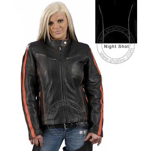 Ladies Striped Jackets, SH-8013O