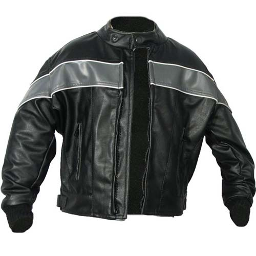 Childrens Leather-Look, Euro-Collar Motorcycle Jacket, KJ2334